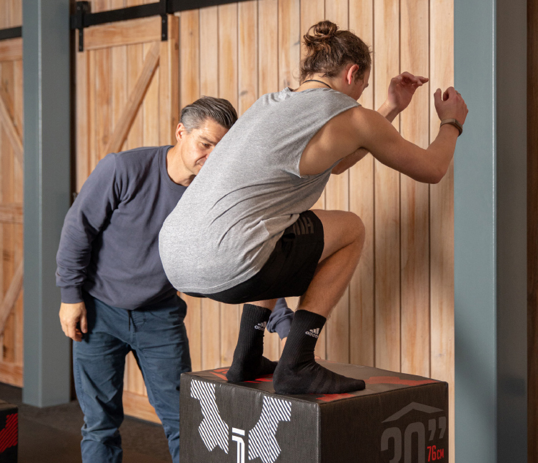 Box jump about